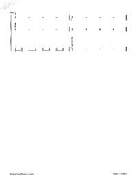 宮崎駿の空と川両手略譜プレビュー8