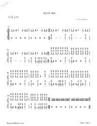Still D.R.E.-Dr. Dre Numbered Musical Notation Preview 1