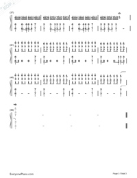 Still D.R.E.-Dr. Dre Numbered Musical Notation Preview 3