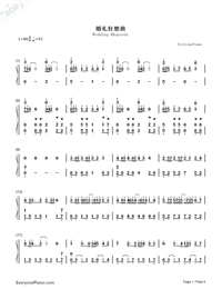Wedding Rhapsody Numbered Musical Notation Preview 1