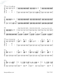 Wedding Rhapsody-Numbered-Musical-Notation-Preview-3