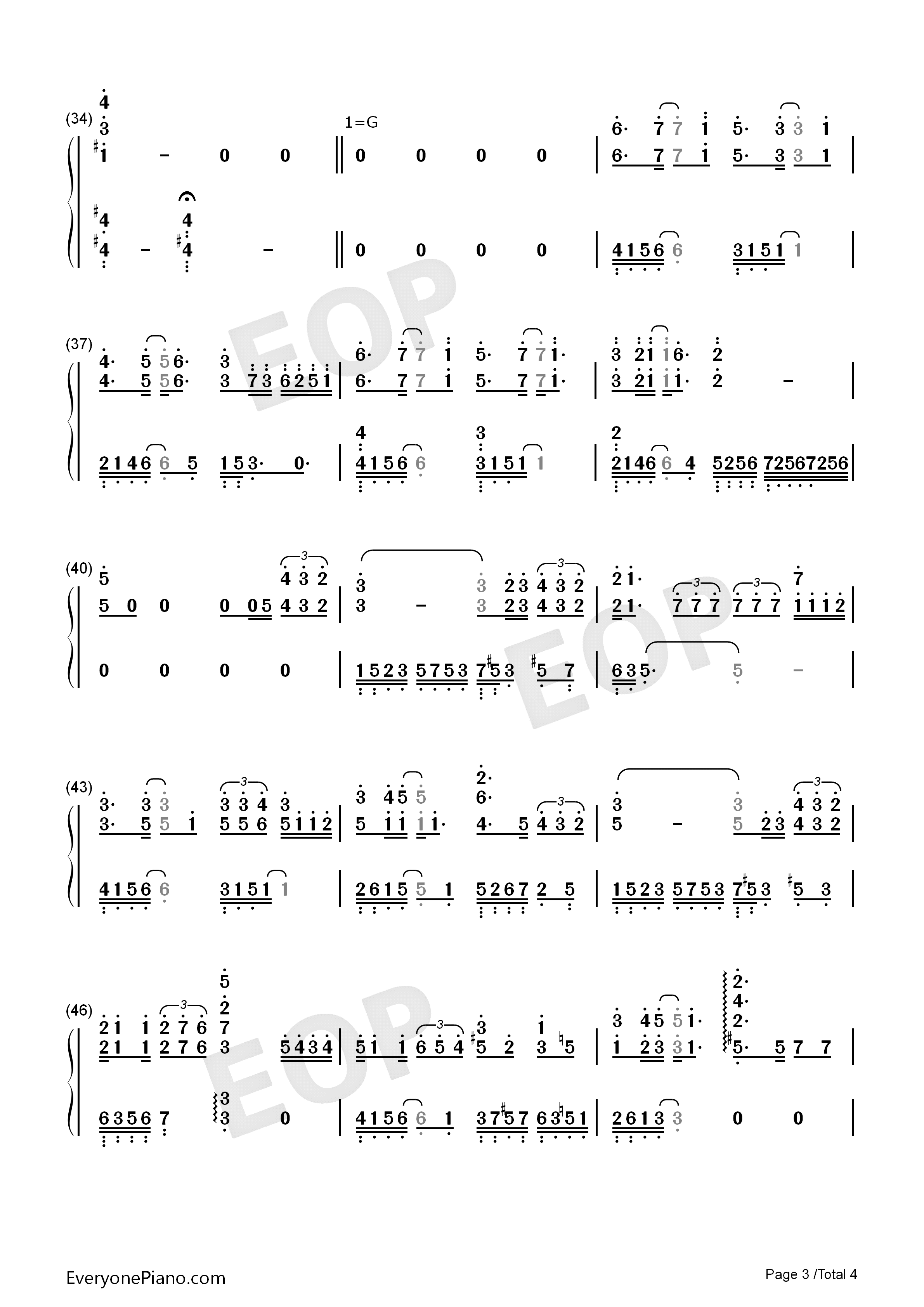 Wish-Lay Zhang Numbered Musical Notation Preview 3
