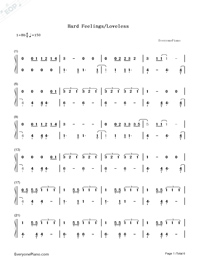 Hard Feelings Loveless-Lorde-Numbered-Musical-Notation-Preview-1