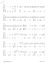 Hard Feelings Loveless-Lorde-Numbered-Musical-Notation-Preview-3