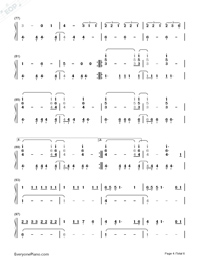 Hard Feelings Loveless-Lorde-Numbered-Musical-Notation-Preview-4