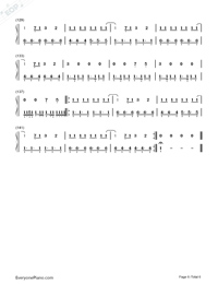Hard Feelings Loveless-Lorde-Numbered-Musical-Notation-Preview-6