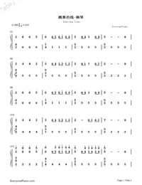 Dancing Line-Numbered-Musical-Notation-Preview-1