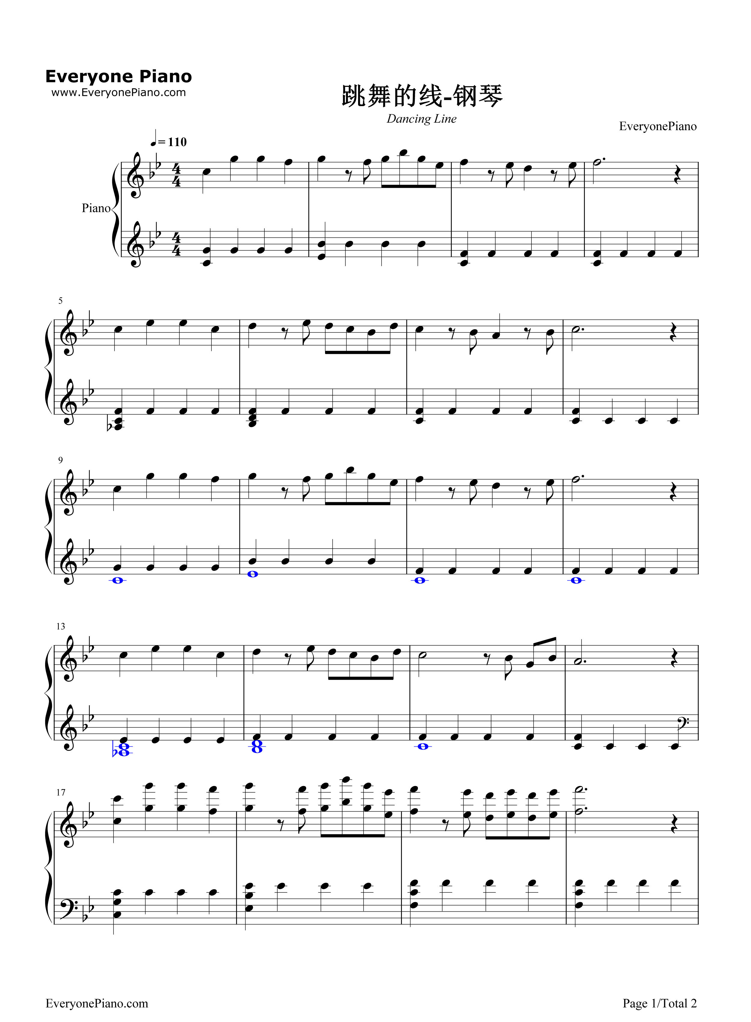 Dancing line stave preview 1 free piano sheet music piano chords listen now print sheet dancing line stave preview 1 hexwebz Gallery