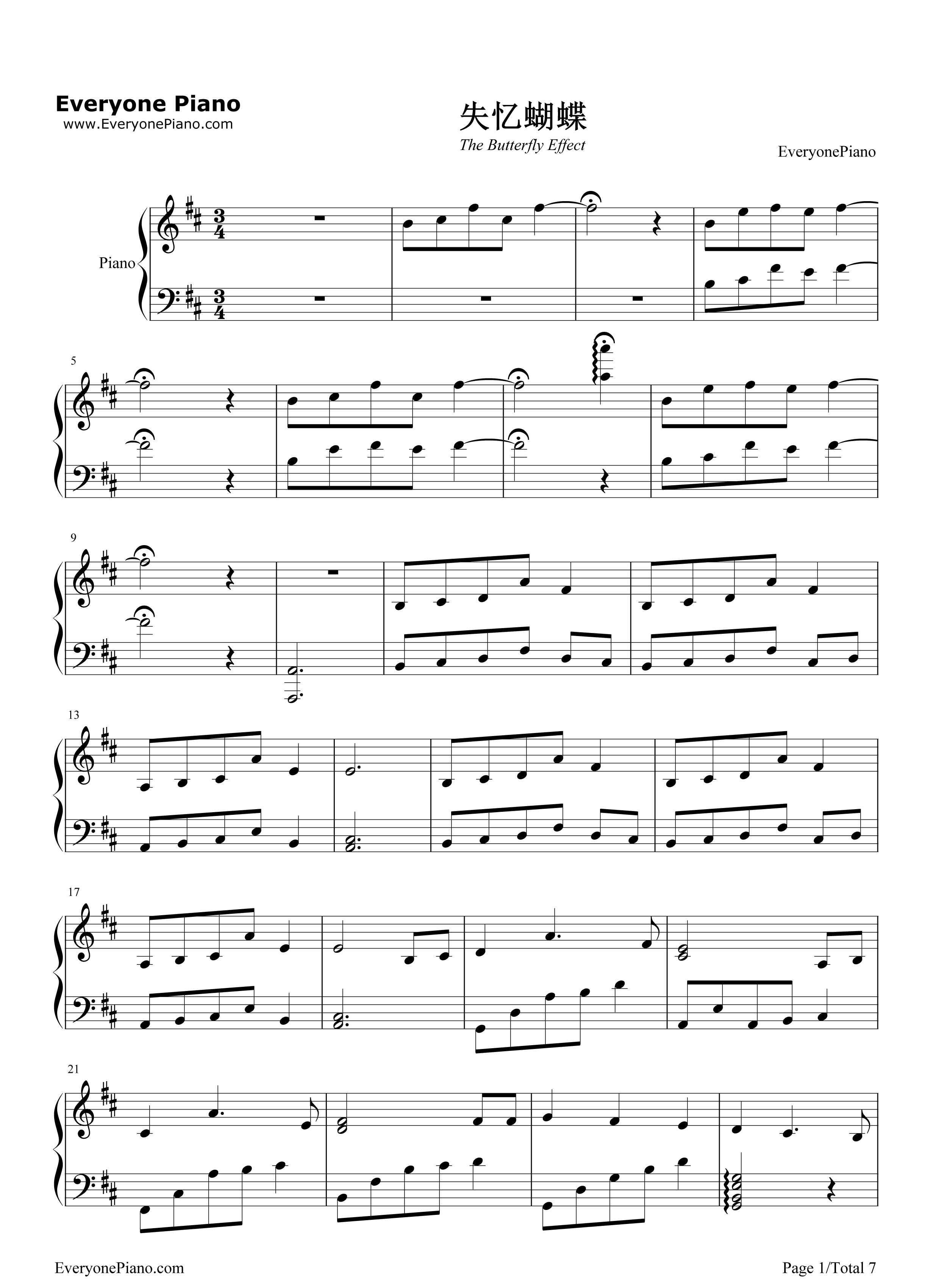 The butterfly effect eason chan stave preview 1 free piano sheet listen now print sheet the butterfly effect eason chan stave preview 1 hexwebz Gallery