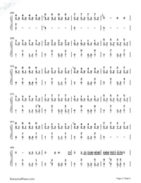 Little Luck-Our Times Theme-Numbered-Musical-Notation-Preview-2