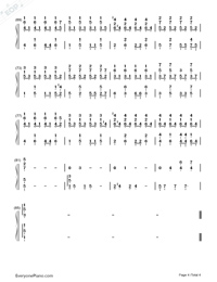 Little Luck-Our Times Theme-Numbered-Musical-Notation-Preview-4
