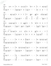 月の明り-最終幻想Ⅳ背景音樂雙手簡譜預覽3