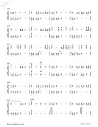 月の明り-最終幻想Ⅳ背景音樂雙手簡譜預覽4