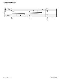月の明り-最終幻想Ⅳ背景音樂五線譜預覽6