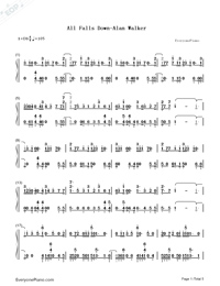 All Falls Down-Alan Walker-Numbered-Musical-Notation-Preview-1
