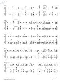 All Falls Down-Alan Walker-Numbered-Musical-Notation-Preview-4