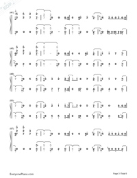 Remember Me-Coco Them Song Numbered Musical Notation Preview 3
