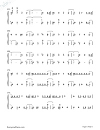 Remember Me-Coco Them Song Numbered Musical Notation Preview 4