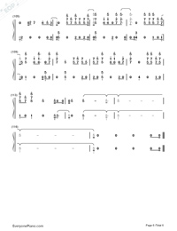 Remember Me-Coco Them Song Numbered Musical Notation Preview 6