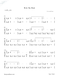 With the Wind-Yiruma-Numbered-Musical-Notation-Preview-1