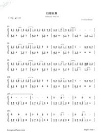 Fantacy World-Kuhara Izuna-Numbered-Musical-Notation-Preview-1
