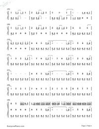 Fantacy World-Kuhara Izuna-Numbered-Musical-Notation-Preview-2