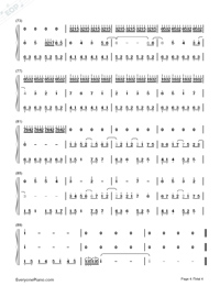 Fantacy World-Kuhara Izuna-Numbered-Musical-Notation-Preview-4