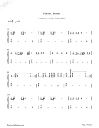 Forest Haven-The Legend of Zelda: The Wind Waker OST-Numbered-Musical-Notation-Preview-1