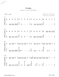 Grandma-The Legend of Zelda: The Wind Waker OST-Numbered-Musical-Notation-Preview-1