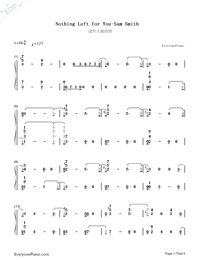 Nothing Left for You-Sam Smith-Numbered-Musical-Notation-Preview-1
