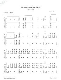 One Last Song-Sam Smith両手略譜プレビュー1