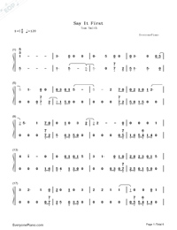Say It First-Sam Smith-Numbered-Musical-Notation-Preview-1