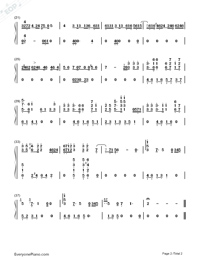 If Sin Blooms-The Death Notice Main Theme Numbered Musical Notation Preview 2