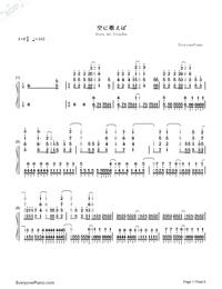 Sora ni Utaeba-My Hero Academia op Numbered Musical Notation Preview 1