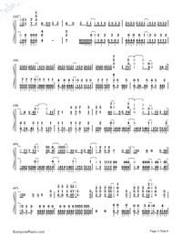 Sora ni Utaeba-My Hero Academia op Numbered Musical Notation Preview 3