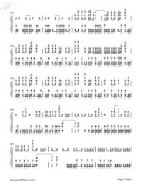 Sora ni Utaeba-My Hero Academia op Numbered Musical Notation Preview 5