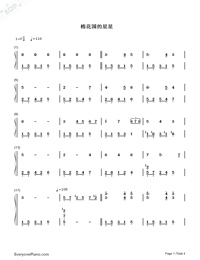 Un Blanc Jour D Un Chaton-Richard Clayderman Numbered Musical Notation Preview 1