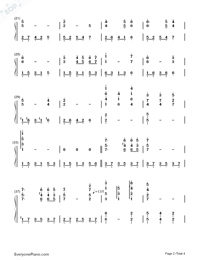 Un Blanc Jour D Un Chaton-Richard Clayderman Numbered Musical Notation Preview 2