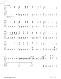 Un Blanc Jour D Un Chaton-Richard Clayderman Numbered Musical Notation Preview 3