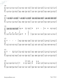 Free Life-Richard Clayderman-Numbered-Musical-Notation-Preview-2
