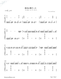 Byoumei wa Ai datta-Super Version-Numbered-Musical-Notation-Preview-1
