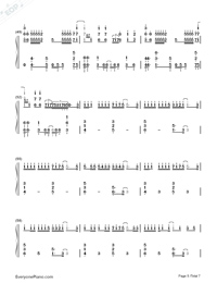 Byoumei wa Ai datta-Super Version Numbered Musical Notation Preview 5