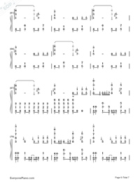 Byoumei wa Ai datta-Super Version Numbered Musical Notation Preview 6