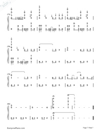 Byoumei wa Ai datta-Super Version Numbered Musical Notation Preview 7