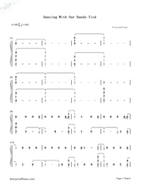 Dancing With Our Hands Tied-Taylor Swift-Numbered-Musical-Notation-Preview-1