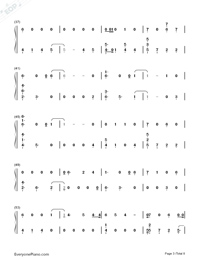 Dancing With Our Hands Tied-Taylor Swift-Numbered-Musical-Notation-Preview-3