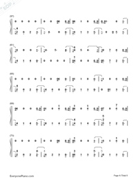 Dancing With Our Hands Tied-Taylor Swift-Numbered-Musical-Notation-Preview-4