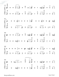 Dancing With Our Hands Tied-Taylor Swift-Numbered-Musical-Notation-Preview-5
