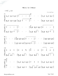 Waltz In C Minor-Yiruma Numbered Musical Notation Preview 1