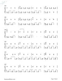 Waltz In C Minor-Yiruma Numbered Musical Notation Preview 2